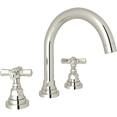 Rohl A2328XM San Giovanni 1.2 GPM Widespread Bathroom Faucet, Polished Nickel