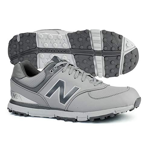 New Balance Men's 574 SL Waterproof Spikeless Comfort Golf Shoe, Grey/Silver, 10.5 M -