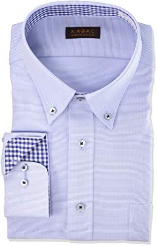 [カザック]ワイシャツ ボタンダウン メンズ|GKW202 [756-3L86] GKW202 756-青-ボタンダウン 日本 3L45-86) (日本サイズ3L相当)