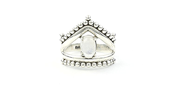 Soul Talisman Prism Stone Size 6.75 Psychic Protection Rainbow Moonstone Ring Natural  Gemstone Goddess Stone 925 Sterling Silver