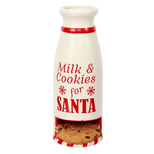 DEI 81453 Santa Cookie Plate, 7.5 x 3.25 x 3.25, White/Red
