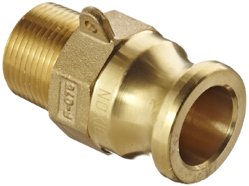 Dixon G75-F-BR ASTMC 38000 Forged Brass Global Type F Cam and Groove Hose Fitting, 3/4