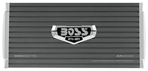 BOSS Audio AR4000D Armor 4000 Watt, 1, 2, 4 Ohm Stable Class D Monoblock Car Amplifier with Remote Subwoofer Control