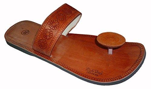 Håndlaget Luksus Menns Rajasthani Skinn Tøfler