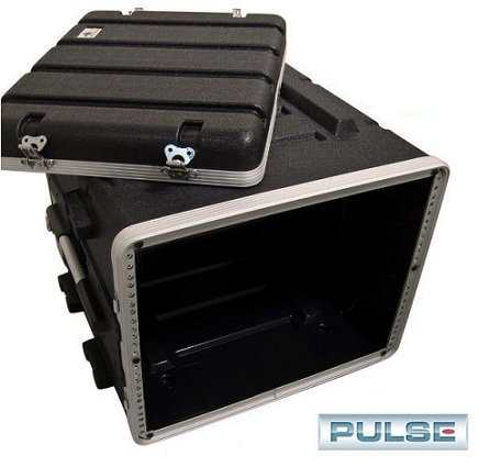 Pro Audio DJ Stackable ABS Rack Mount Flight Case Stackable Electronic Equipment Case- Six Rack Spaces 6RU by Pulse