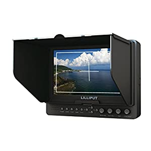 Professional Lilliput 7'' 665/s/p Color TFT LCD Monitor with Hdmi Inuput and Output, Ypbpr, Av, Hd-sdi Input , Hd-sdi Output / with F-970 & Qm91d Battery Plate + Sun Shade Cover + Free Hot-shoe Mount/ 4 NEW Function: Peaking Filter , False Color Filter, Zebra Exposure, Brightness Histogram / for Dslr Camera with Hdmi Port / Such As: Canon 5d Ii / 5d III / 7d / Nikon D800 / D800e / D7000 D4 Camera Etc By Viviteq