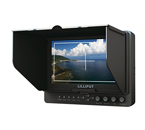 (Professional Lilliput 7'' 665/s/p Color TFT LCD Monitor with Hdmi Inuput and Output, Ypbpr, Av, Hd-sdi Input , Hd-sdi Output / with F-970 & Qm91d Battery Plate + Sun Shade Cover + Free Hot-shoe Mount/ 4 NEW Function: Peaking Filter , False Color Filter, Zebra Exposure, Brightness Histogram / for Dslr Camera with Hdmi Port / Such As: Canon 5d Ii / 5d III / 7d / Nikon D800 / D800e / D7000 D4 Camera Etc By Viviteq)