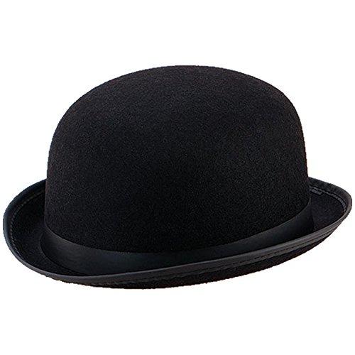 Melone schwarzer Bowler Hut f. Hochzeiten Reiterhut Butler Fasching
