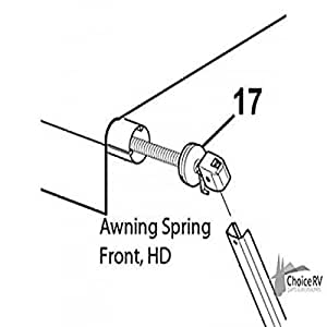 Amazon.com: Carefree R00926MIL-A Awning Spring Front ...