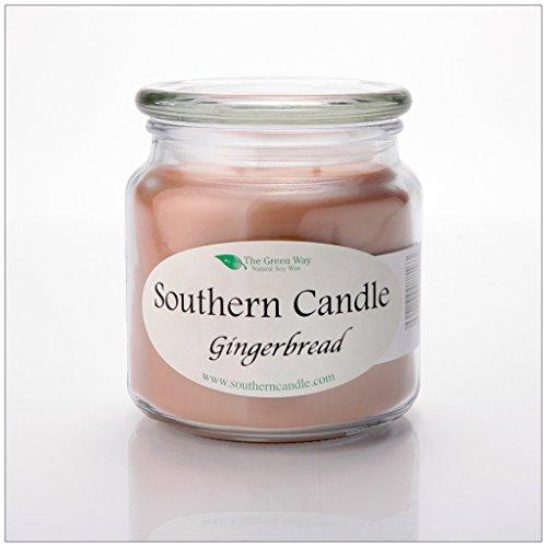 Gingerbread 16 oz Decorator Jar Natural Soy Wax ()
