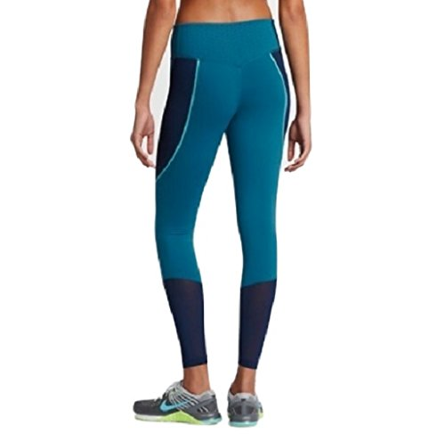 Women's Nike Power Legendary Mid Rise Training Tights (Industrial Blue/Binary Blue/Chlorine Blue/Black) 874712-457 Size: Small by NIKE