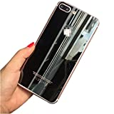 For IPhone 7 Plus,Lucoo Front/Back Tempered Glass Film Protector for iphone 7plus 5.5Inch (Black)