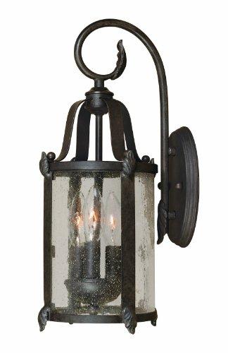 World Imports 1692-89 Old Sturbridge Collection 3-Light Outdoor Wall Lantern, Bronze