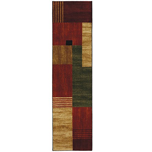 Mohawk Home New Wave Alliance Geometric Printed Area Rug  2X8  Multicolor