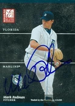 Mark Redman Signed Baseball - Card 2003 Donruss Elite #29 - Autographed Baseball - Card Donruss 2003 Elite Baseball