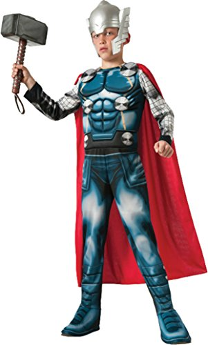 Thor Fancy Dress Costumes (Boys Thor Kids Child Fancy Dress Party Halloween Costume, M (8-10))