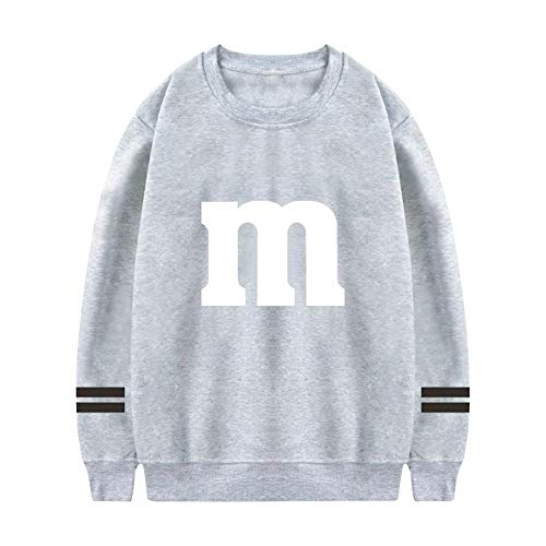 M&Ms Candy Halloween Costume Men's Fashion Sweatshirt Boys Crew Neck Hoodies Long Sleeve Casual Hooded