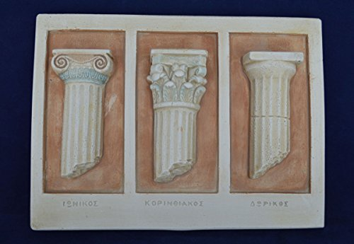 Estia Creations Ancient Greek Doric Corinthian Ionic order column artifact Classical (Greek Corinthian Column)