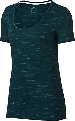 NIKE Womens Legend Dri-FIT Fleck T-Shirt (Midnight Spruce, - Dri Fit Legend