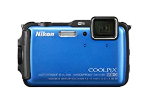 Nikon COOLPIX AW120 16.1 MP Wi-Fi and Waterproof Digital Camera with GPS and Full HD 1080p Video (Blue) (Discontinued by Manufacturer)