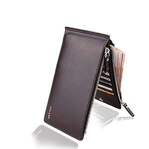 Men Women Fashion Leather Slim Wallet ID Credit Cards Holder Organizer Purse Coffee