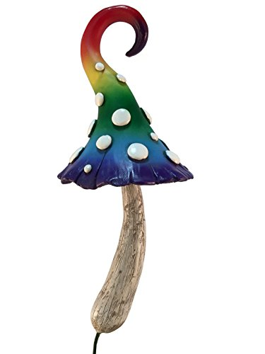Enchanted Rainbow Miniature Mushroom for a Miniature Fairy Garden or Lawn Gnomes. Gnome- Fairy Garden (Rainbow Mushroom)