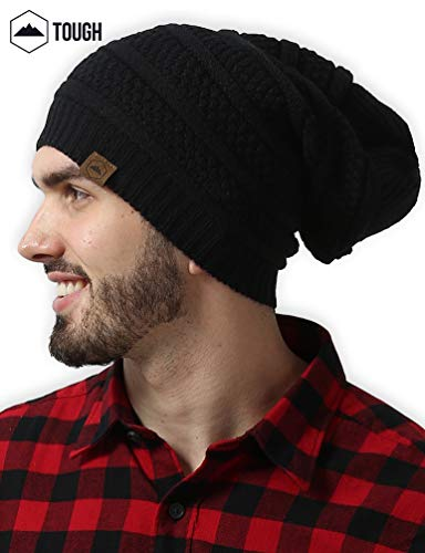 8562a6cc340 Slouchy Cable Knit Beanie by Tough Headwear - Chunky
