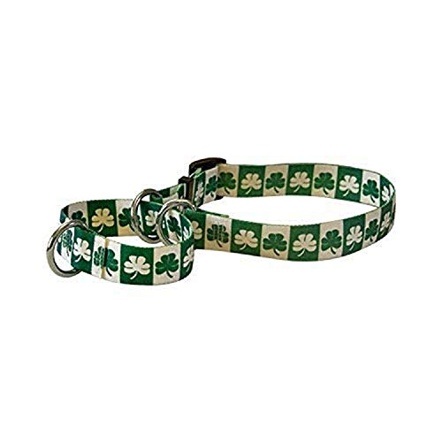 Yellow Dog Design Martingale Collar, Small, Shamrock