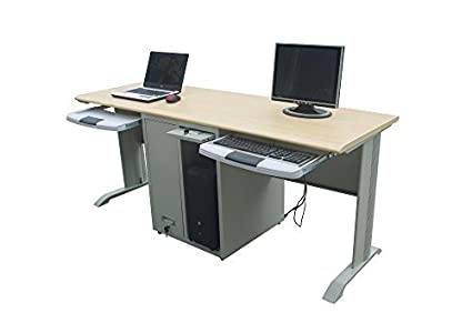 inland two person computer desk 05141 amazon in computers rh amazon in two level computer desk two computer table