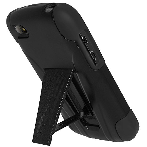 Amzer Double Layer Hybrid Case with Kickstand Double Layer Hybrid Case with Kickstand for BlackBerry Q10 (Impact Resistant Case with Media Stand)
