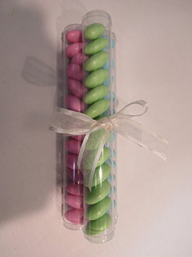 10 PCS Clear Candy Favor Party Tubes (1 X 7, Clear) by Priti Parti