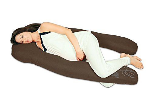 Almohada de embarazo y lactancia'Herradura' (Relleno Importado) - Cojín maternidad (Chocolate)