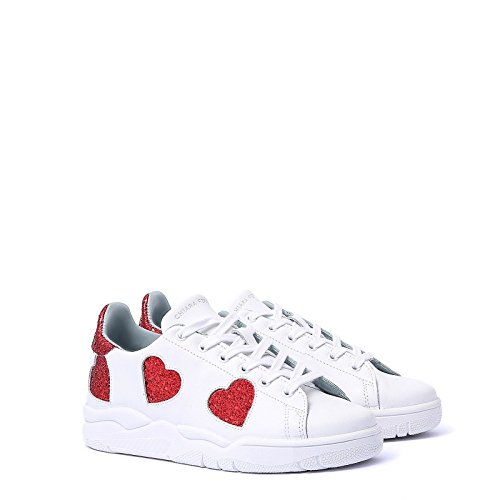 Chiara Ferragni Women's CF1913 White Leather Sneakers clearance under $60 2014 sale online 2015 new cheap online extremely sale online PomJNnNsC