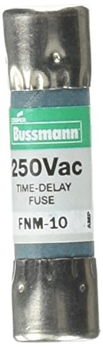 Bussmann FNM-10 Tron Fnm Non-Indicating Time Delay Supplemental Fuse, 250 Vac, 10 A (Delay Tron Time Fuse)