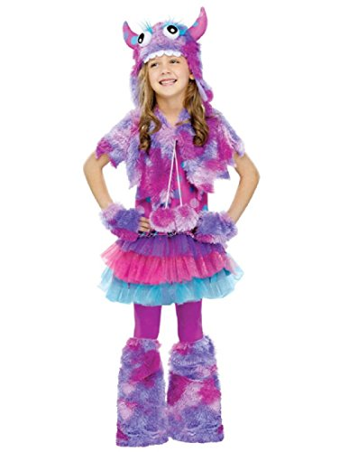 [Fun World Polka Dot Monster Girls Costume Medium (8-10)] (Halloween Witch Costumes Kids)