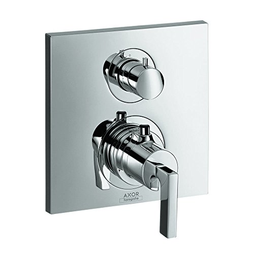 AXOR 39700001 Citterio Thermostatic Trim with Volume Control Lever Handle, Chrome AXOR