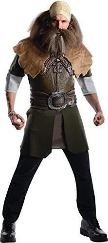 Rubie's The Hobbit Deluxe Dwalin, Multicolor, Adult One Size Costume