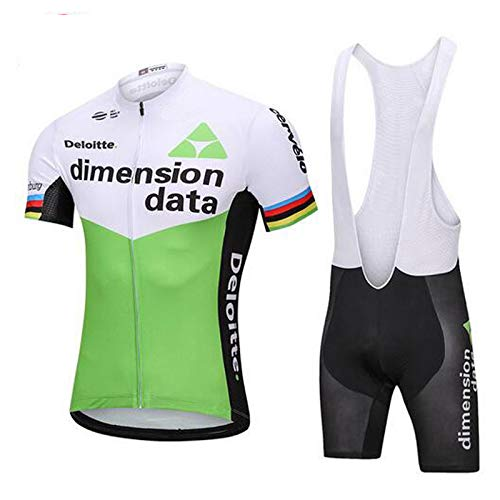 FH Mens MTB Breathable Cycling Short Sleeve Jersey and Shorts Road Bike Biking Clothing Riding Sportswear Bicycle Shirt Bib Suits Kit Size Large