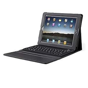Nsaneoo - Premium Litchi Grain PU Leather Case for iPad 2 with Bluetooth Keyboard (76-Key)