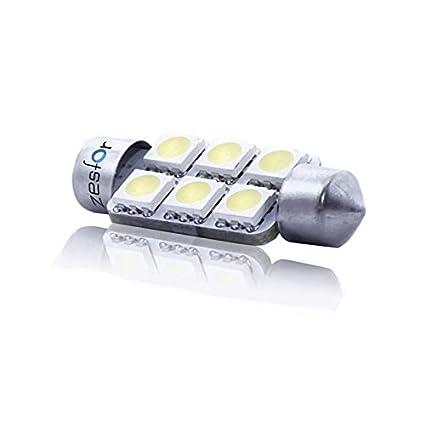 Zesfor® Bombilla LED C5W 39 mm, 6 SMD Brillant - Tipo 6: Amazon.es ...