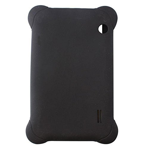 Silicone Rubber Case Cover for 7'' 7 inch Android Capacitive Table PC PDA #01 Black 7' Universal Tablet