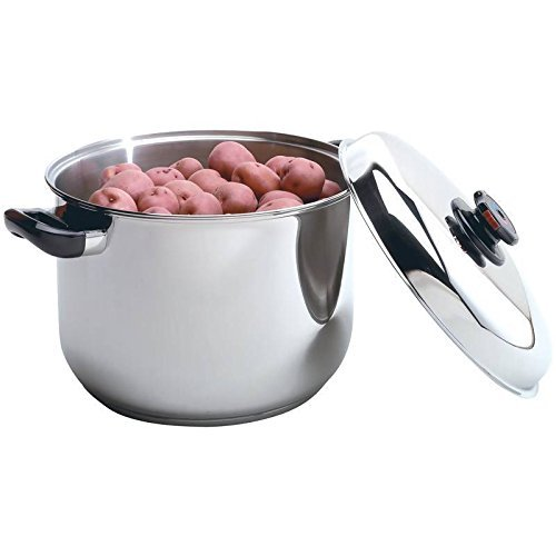HealthSmart 16-Quart Surgical Stainless-Steel Waterless Stockpot by (16 Qt Waterless Stock Pot)