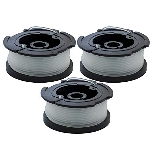 Garden NINJA Replacement Trimmer Spool Compatible with Black+Decker AF-100, 3-Spool with 1 Cap … (3 - Spool)