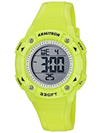 Armitron Sport Women's Quartz Resin Fitness Watch, Color:Green (Model: 45/7081LGN)