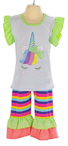 - Anderson Baby Care Toddler Girl Clothes, Baby/Little Girls Outfits (18 Months, Rainbow Unicorn)
