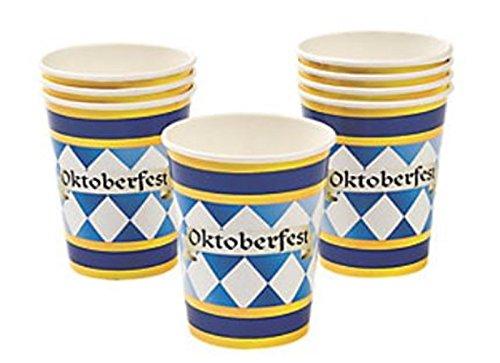 24 PC - Oktoberfest Cups PARTY PACK - Bulk Oktoberfest Party supplies