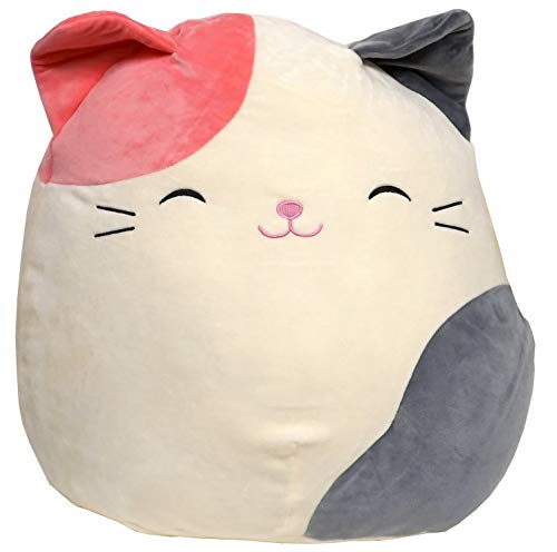 Squishmallow Karina Stuffed Animal, White, Pink, Grey, 16""