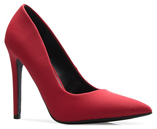 Sexy High Heeled - OLIVIA K Women's Classic D'Orsay Closed Toe High Stiletto Heel Pump | Dress, Work, Party HIGH Heeled Pumps | Casual Comfortable