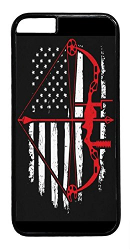 RHINO ARMOUR SLIM - Ultra Premium Case -Bow Hunting USA FlagNew design for Apple iPhone 7 PLUS ( 5.5 inch), Made & Printed in the USA