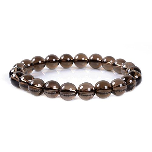 Bracelet Quartz Quartz Smoky - Smoky Quartz Gemstone 8mm Round Beads Stretch Bracelet 7